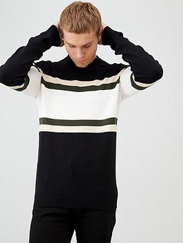 river-island-black-blocked-slim-fit-knit-jumper