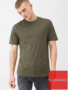 river-island-khaki-green-slim-fit-crew-neck-t-shirt