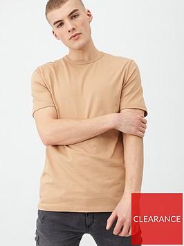 river-island-stone-slim-fit-crew-neck-t-shirt