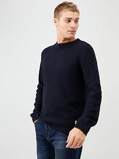river-island-navy-slim-fit-tipped-knitted-jumper