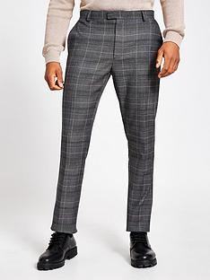 river-island-smart-slim-check-trouser