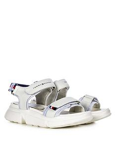tommy-hilfiger-girls-velcro-sandals-white