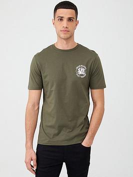 river-island-khaki-printed-short-sleeve-slim-fit-t-shirt