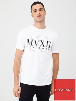 river-island-white-slim-fit-short-sleeve-t-shirt