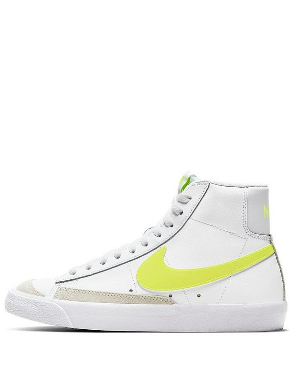 Cielo Memorándum Arqueológico  Nike Blazer Mid '77 - White/Yellow | very.co.uk