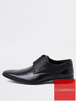 river-island-black-line-embossed-lace-up-derby-shoes