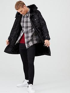 river-island-black-faux-fur-hooded-longline-parka-jacket