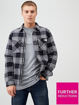 river-island-black-check-long-sleeve-quilted-overshirt
