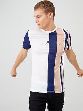 river-island-maison-riviera-muscle-fit-stripe-t-shirt