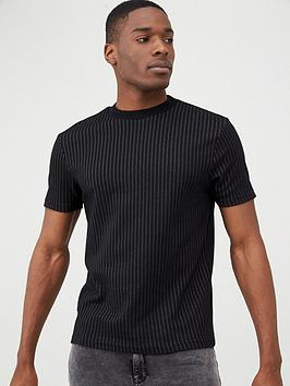 river-island-black-stripe-short-sleeve-slim-fit-t-shirt