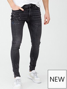 river-island-smart-western-black-ollie-spray-on-jeans