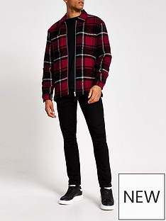 river-island-red-check-long-sleeve-overshirt