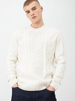 river-island-ecru-cable-knit-crew-neck-jumper