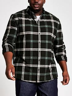 river-island-big-and-tall-black-check-regular-fit-shirt