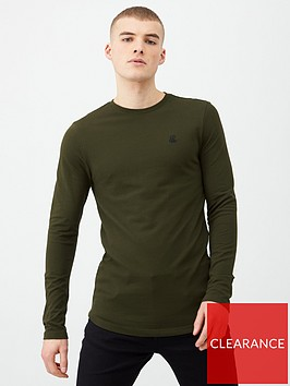 river-island-dark-green-r96-long-sleeve-t-shirt