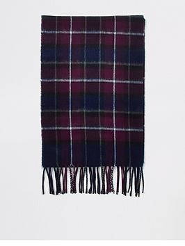 river-island-burgundy-check-scarf