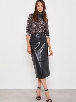 mint-velvet-textured-pu-pencil-skirt-black