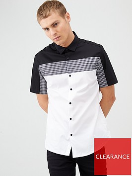 river-island-houndstooth-colour-block-slim-fit-shirt-white