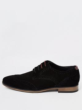 river-island-black-wide-fit-suede-lace-up-brogues
