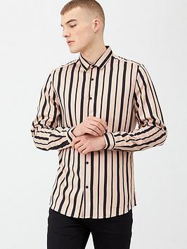 river-island-stripe-slim-fit-long-sleeve-shirt-pinkblack