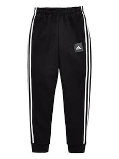 adidas-childrens-3-stripe-pants-black
