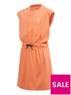 adidas-junior-girlsnbspathleticnbspbold-dress-orange