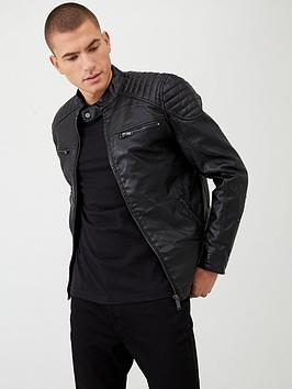 river-island-black-faux-leather-racer-jacket