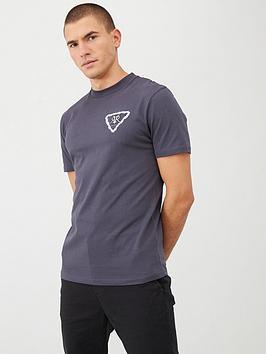 river-island-grey-rvr-embroidered-floral-slim-fit-t-shirt