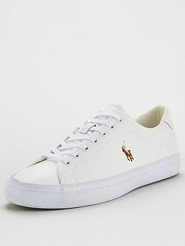 Polo Ralph Lauren Longwood Leather Trainers - White
