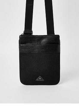 river-island-triangle-badge-flight-bag