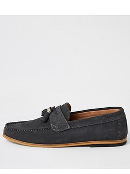 river-island-grey-suede-tassel-loafers