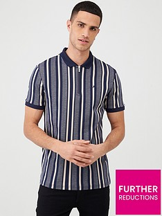 river-island-short-sleeve-herringbone-stripe-polo