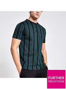 river-island-maison-riviera-black-stripe-slim-fit-t-shirt