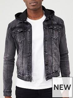 river-island-muscle-fit-hooded-denim-jacket-black