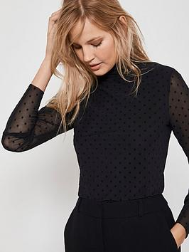 mint-velvet-star-mesh-polo-neck-top-black