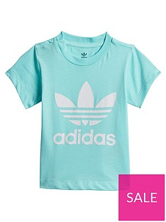 adidas-originals-infant-trefoil-tee-light-blue