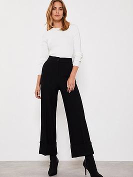 mint-velvet-mint-velvet-textured-turn-up-wide-leg-trouser