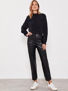 mint-velvet-pu-straight-leg-trouser