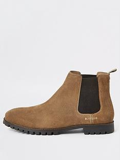river-island-brown-suede-wide-fit-chelsea-boots