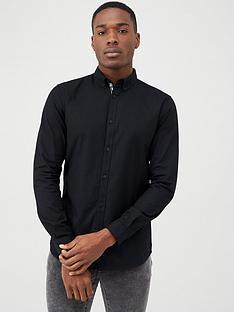 river-island-maison-riviera-black-slim-fit-oxford-shirt