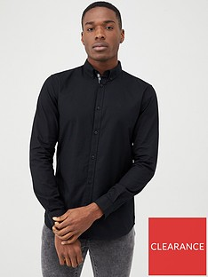 river-island-maison-riviera-black-slim-fit-oxford-shirt