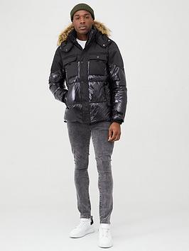 river-island-black-high-shine-hooded-padded-jacket