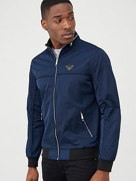 river-island-navy-mcmlx-zip-front-racer-jacket