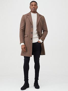 river-island-brown-single-breasted-overcoat
