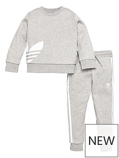 adidas-originals-youthnbspbg-trefoil-crew-and-jogger-grey