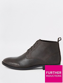 river-island-dark-brown-wide-fit-leather-chukka-boots