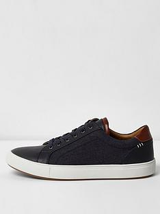 river-island-navy-denim-side-lace-up-trainers