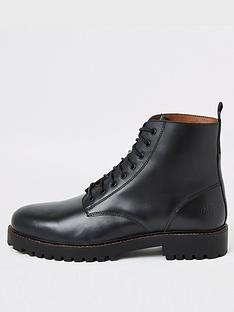 river-island-black-leather-lace-up-boots