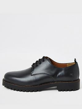 river-island-black-chunky-sole-leather-derby-shoes