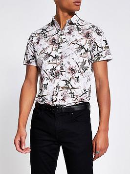 river-island-bird-print-short-sleeve-shirt